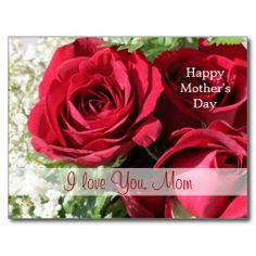 Shop Red roses Mother's day Postcard created by IrinaFraser. Birthday Postcards, Feeling Loved, Postcard Size, Happy Mothers Day, Red Roses, Create Your Own, Feelings, Search