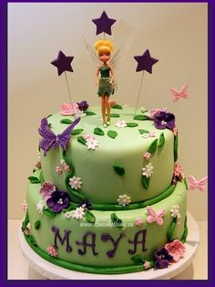 Tinkerbell Cake  www.itsacakething.ca
