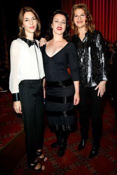 Sofia Coppola, Debi Mazar, Sandra Bernhard at Marc Jacobs Spring 2016 Ready-to-Wear