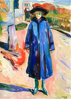 Blue Coat in Sunshine  Edvard Munch - 1922