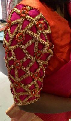 D.R.fashion Hand Work Design, Hand Work Blouse Design, Stylish Blouse Design, Cutwork Blouse Designs, Saree Blouse Neck Designs, Bridal Blouse Designs, Cut Work Blouse, Designer Blouse Patterns, Hand Designs