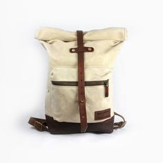 #leather and #canvas bag for men, #madeinusa, weathered coalition