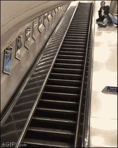 ForGIFs drunk escalator