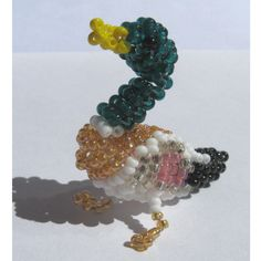 Canard colvert miniature en perles de rocaille et fil de nylon : Accessoires de maison par zusisizu