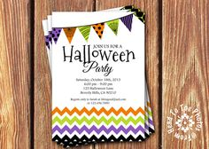 Halloween Party Invitations by FromHeadtoToeDesigns on Etsy, $12.00