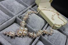 Strass Tropfen Halskette Cluster Halskette von DesignByIrenne