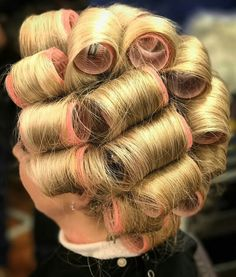 Sleep In Hair Rollers, Hair Curlers Rollers, Roller Set, Pin Curls, Vintage Glamour, Curled Hairstyles, Hairdresser, Salons, Hair Beauty