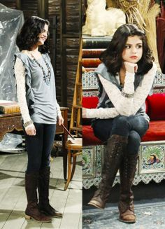 ✤❤️➳ Pinterest: greatgrace99 ➳❤️✤ Alex Russo, Tv Show Outfits, Cool Outfits, Movie Outfits, College Outfits, Star Fashion, Fashion Outfits, Selena And Taylor, Selena Gomez Outfits