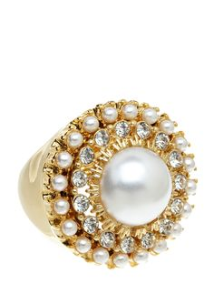 Rosamaria G Frangini | High White Jewellery | Gold and pearl ring
