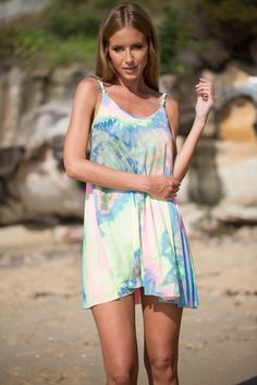 MULTI COLOR TIE DYE OVERSIZED DRESS #ustrendy www.ustrendy.com