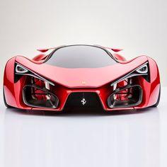 Ferrari Supercar Concept by Adriano Raeli. Italian designer Adriano Raeli reveals the unofficial successor to the Ferrari LaFerrari Ferrari F80, Pink Ferrari, Ferrari 2017, Maserati, Pink Bmw, Ferrari Auto, Automobile, Bmw Autos, Auto Motor Sport