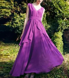 Elegant chiffon dress bridesmaid dress evening by Lemontree2013, $95.90