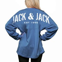 Show your Jack & Jack spirit with this official jersey. It's made from soft 100% cotton jersey with a roomy, oversized fit. This is about a size larger t