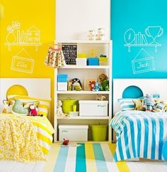 Here's a shared kid's room idea for a girl and a boy that is guaranteed to make them both #happy! Description from pinterest.com. I searched for this on bing.com/images