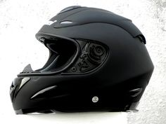 Masei 802 Matt Black Full Face Motorcycle DOT & ECE Helmet FREE Shipping…