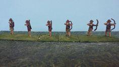 Cretan Archers: 6 LI B  (25mm Minifigs/Hinchliffe)