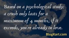 educational psychology: based on a psychological study, a crush only lasts for a maximum of 4 months, if it exceeds, you're already in love. Psychology Facts About Love, Dream Psychology, Psychology Says, Psychology Quotes, Boy Facts, Weird Facts, Interesting Facts About Dreams, Psychological Facts About Boys, Relationship Facts
