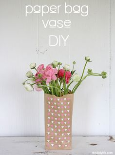 #DIY Paper Bag Flower Vase