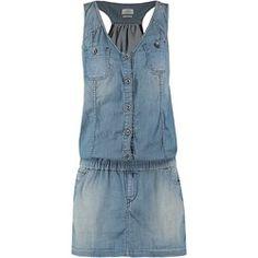 Replay Sukienka jeansowa light blue denim