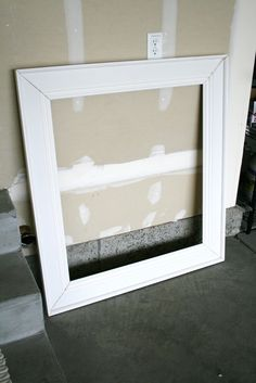 frame using baseboards...good for mirror or canvas picture