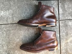 Alden Cap Toe Boots Brown Calfskin for Leffot Sz 11.5 Plaza Last | eBay