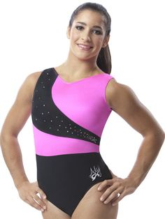 Aly Raisman Berry & Black Jeweled Tank from GK Elite! I have this one and I love it!!