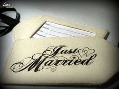 Just Married Fabric Luggage Tags by lunahandmade on Etsy