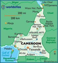 Cameroon - maybe not one of my favorite places but one of my favorite people is there.