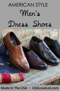A great graduation gift idea! Men's Dress Shoes Made in USA American style