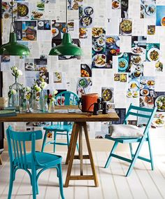 Good idea for wallpaper! I like the table and chairs