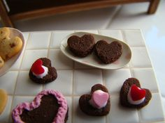 Brownie hearts 1:12