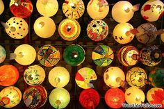 Paper Lanterns for the Mid-Autumn Festival in China