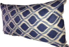 A lumbar pillow is a terrific way to add color and style to any space. This Ikat would be a great addition to any room. Ikat Pillows, Toss Pillows, Accent Pillows, Mill Creek, Exotic Beauties, Ikat Pattern, Periwinkle Blue, Decorative Pillow Covers, Lumbar Pillow