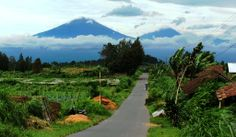Mount Sumbing and Mount Sindoro, Central Java, Indonesia
