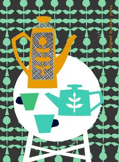tea towel design - kate yorke