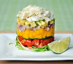Stack it Up FOOD on Pinterest | Crabs, Avocado and Corn Fritters