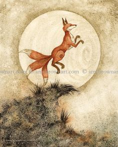 Amy Brown Art - Leaping at the Moon