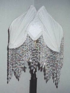 Dreamy lampshade with long beaded fringe.....