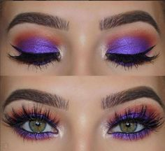 simple eye makeup tips for beginners that will take . - simple eye makeup tips for beginners that will take . Orange Eye Makeup, Eye Makeup Art, Colorful Eye Makeup, Eye Makeup Tips, Simple Makeup, Makeup Ideas, Easy Makeup, Natural Makeup, Makeup Geek