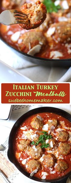 Serve these Italian Turkey Zucchini Meatballs over a bowl of pasta, or better yet - some sautéed zucchini noodles or mushrooms. So delicious AND healthy! Turkey Recipes, Dinner Recipes, Turkey Dishes, Turkey Zucchini Meatballs, Healthy Recipes, Easy Recipes, Cooking Recipes, Healthy Dinners, Weeknight Meals