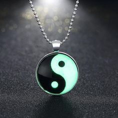 necklaces Glass Necklace Jewelry glowing necklaces for women men 2017 New Glow in the dark necklace Yin Yang Pendants - CuteRun #jewelry #necklace #earring #earrings #rings #rings #bracelet #bracelets  #jewelryforher  #jewelryforhim