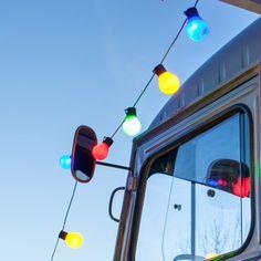 30 Multi Coloured Fiesta Festoon Lights