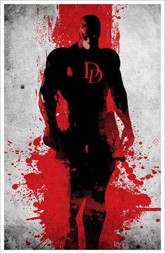 Minimalist Daredevil Poster by MINIMALISTPRINTS on Etsy