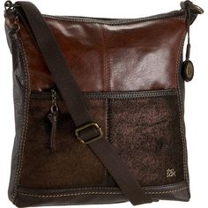 The Sak Iris Messenger Crossbody Bag (Teak Multi)