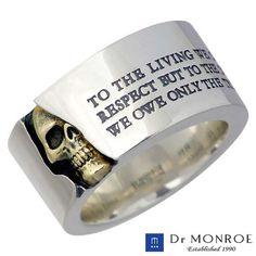 (FC-114KSE-SV) silver ring /K18YG/18 gold combination / men / scull / message /SV925/Silver/ ring /13 - 30 10P13oct13_b:
