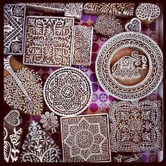 Beautifull Bohemian textile stamps from India