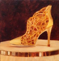 Art by Marcela Strasdas : Elegance - - Oil on Canvas Oil On Canvas, Elegant, Heels, Shoe, Art, Fashion, Classy, Zapatos, Moda