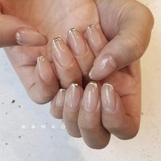 On average, the finger nails grow from 3 to millimeters per month. If it is difficult to change their growth rate, however, it is possible to cheat on their appearance and length through false nails. Are you one of those women… Continue Reading → Minimalist Nails, French Nails, How To Do Nails, Fun Nails, Clean Nails, Nagellack Trends, Neutral Nails, Perfect Nails, Nail Trends