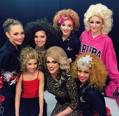 Dance moms Spoiler: Saturday January 18 the girls had a competition! Payton IS competing with them! The group dance is called Kinky boots. It is about drag queens. In this picture they are with a drag queen and in their wigs for the group dance. Payton is the lead in the group dance
