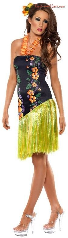 Hawaiian theme outfit on Pinterest | Tiki Party Adult Costumes and Boho Gypsy